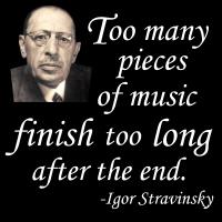 Stravinsky on Endings