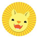 Cute Lion face smiling