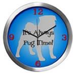 PUG TIME Wall Clocks