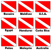 Dive Flags of the World