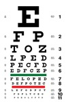 Traditional eye charts