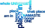 Namaste Word Cloud