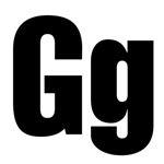 G Helvetica Alphabet