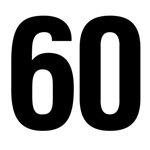 Number 60 Helvetica