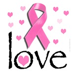Breast Cancer Pink Ribbon Awareness Design: Love
