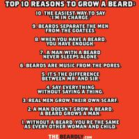 TOP 10 REASONS TO GROW A BEARD