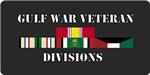 Army Gulf War Divisions License Plates/Mugs