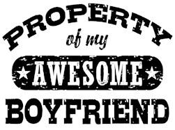 Property Of My Awesome Boyfriend t-shirt