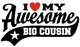 I Love My Awesome Big Cousin t-shirt