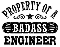 Property of a Badass Engineer t-shirts