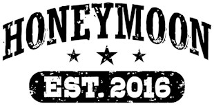 Honeymoon Est. 2016 t-shirts