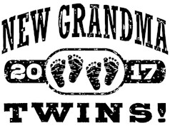 New Grandma Twins 2017 t-shirts
