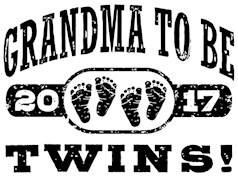 Grandma To Be Twins 2017 t-shirts