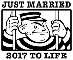 Just Married 2017 t-shirt