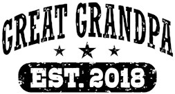 Great Grandpa Est. 2018 t-shirt