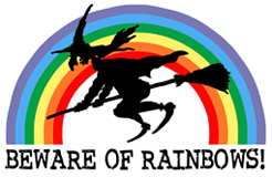Beware of Rainbows (wicked witch) t-shirts