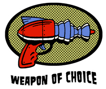 Weapon of Choice Ray Gun t-shirt
