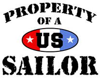 Property of a US Sailor t-shirt