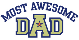 Most Awesome Dad t-shirts