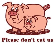 Please Don't Eat Us t-shirt