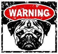 Warning Pug t-shirt