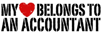 My Heart Belongs To An Accountant t-shirts