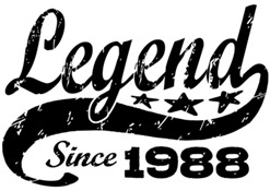 Legend Since 1988 t-shirt