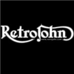 RetroJohn logo Reverse Out