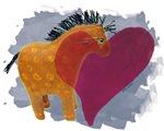 Yellow Heart Pony