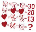 Valentine's Day Heart Math Puzzle