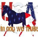 In God We Trust-Patriotic Horse