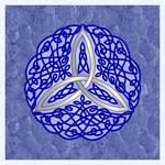 Blue Celtic Trinity Knot
