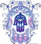 Blue & Lavender Hamsa