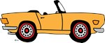 Gold TR6 Cartoon