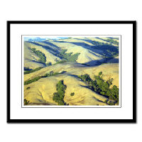 framed aerial northern california photographs