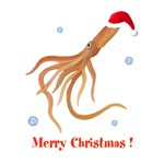 Personalized Christmas Squid