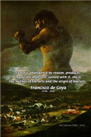 Famous Fantasy Quote: Goya Colossus Painting