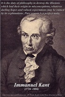 Immanuel Kant: Reason, Duty of Philosophy