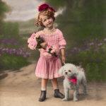 Child & Bichon - year 1920