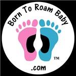 Born To Roam Baby Logo