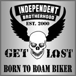 Born To Roam Biker Winged Skull