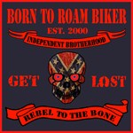 Born to Roam Rebel Skull