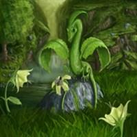 Lily Flower Leaf Dragon