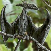 Gray Wood Dragon Fine art