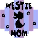 Westie Mom - Blue/Purple Stripe