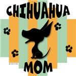 Chihuahua Mom Green/Orange Stripe