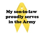 My son-in-law proudly serves