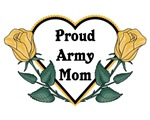 Yellow Rose - Army Mom