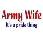 Army Wife Pride Items