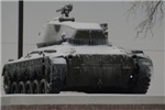 Army Tank in the snow